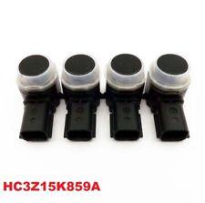 4x OEM Rear Car Reverse Backup Parking Aid Sensor For Ford HC3Z15K859A Black OEM