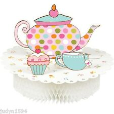 TEA TIME CENTREPIECE HONEYCOMB PARTY TABLE DECORATION MAD HATTER HIGH TEAPOT CUP