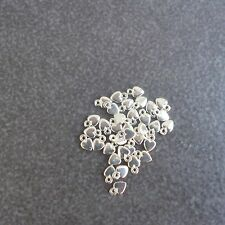 20pcs,925 sterling silver,Extra Tiny Heart Charm,DIYJewelry Make Supply Findings
