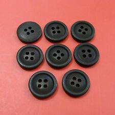 200 Wholesale Lot Top Pants Shirt Craft Sewing Buttons 15mm 24L Matte Black M213