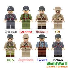 WW2 USA Soviet Chinese GB German Army Military Building Blocks Figure Brick Toys