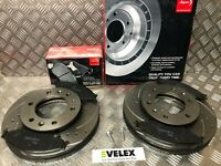 DRILLED & GROOVED FRONT BRAKE DISCS & PADS FORD RANGER 2.2 3.2 TDCI 2016 2020