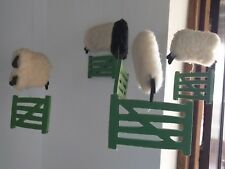 Hanging mobile, pure wool sheep, jumping fences, Lamboro Crafts, handmade Wales