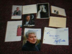 Konvolut 9 x Orginal Autogramme Literatur -Ken Follett ua alle abgebildet