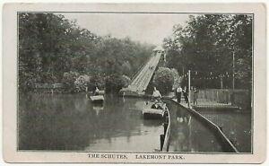 The Schutes, Lakemont Park, Altoona PA Postcard Amusement Park