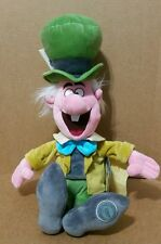 DISNEY STORE ALICE IN WONDERLAND THE MAD HATTER  PLUSH GREEN TOP HAT