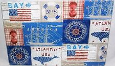 "Glass Cutting Board  11 3/4"" x 7 3/4""  PATRIOTIC/NAUTICAL SIGNS"