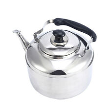 Stainless Steel Whistle Kettle Whistling Hot Water Pot Tea Coffee Maker 5L