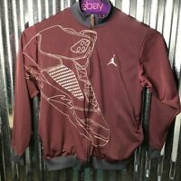 Jordan Vintage Men Retro Embroidered HighTop Sneaker Bomber Jacket Size X-Large