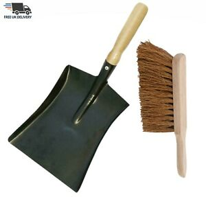 Metal Dustpan Steel Dust Pan Or Brush Stiff Brush Soft Coco & Set CHOOSE