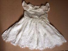 Monsoon Baby Girl Bridal/Party dress/shoes/fur trim bolero IVORY12/18mths