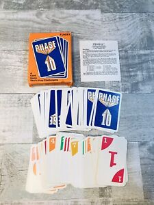 Vintage Phase 10 Card Game 1986 Fundex Excellent Condition missing Instructions