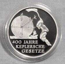 """SILBER-GEDENKMÜNZEN: 10 EURO 2009  KEPLERSCHE GESETZE  SPIEGELGLANZ  """" PP """""""