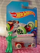 Z-ROD #233✰red/metal✰HW GLOW WHEELS✰✰2017 i Hot Wheels case K/L