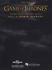GAME OF THRONES tema ASSOLO DI PIANOFORTE SPARTITO LIBRO RAMIN djawadi