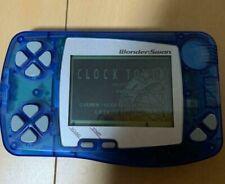 WonderSwan Console Skeleton Blue / CLOCK TOWER Set BANDAI WONDERSWAN WS
