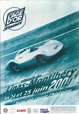Publicité Gtand prix de l'Age d'or 2000 Montlhéry sport automobile motor racing