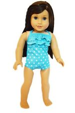 "Doll Clothes AG 18"" Bathing Suit Orange White Polka Dot Fits American Girl Dolls"