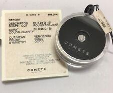 COMETE Diamante naturale ct. 0,28 in blister con certificato