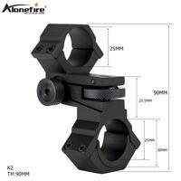 25mm/30mm Adjustable Windage/elevation Torch Scope Mount Laser Rifle Ring Scope