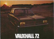 Vauxhall Range 1971/2 Viva Firenza Victor VX490 Ventora Cresta Viscount Brochure