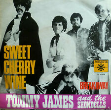 "7"" TOMMY JAMES & THE SHONDELLS Sweet Cherry Wine /VG++"