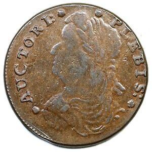 1787 Auctori Plebis Token Colonial Copper Coin
