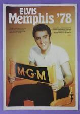 Elvis Memphis '78 Foldout Poster Magazine