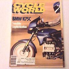 Cycle World Magazine BMW K75C ZL600 Kawasaki April 1986 061617nonrh