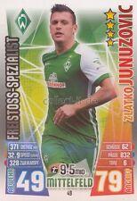 Match Attax 15/16 - 49 - Zlatko JUNUZOVIC - Freistoss-Spezialist