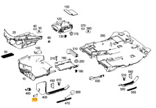NEW Genuine Mercedes Benz MB ML CLASS w166 Interior Servicing Flap Right O/S