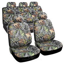 Camouflage Leaves Premium 9 Piece Seat Cover for Car Truck Hunting Camo