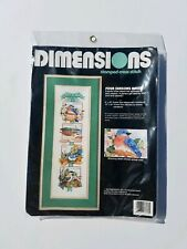 Dimensions NEW Stamped Cross Stitch Four Seasons Birds Made In USA 1992