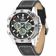 Timberland Thorndike 14115JS/02 Men's Ana-Digi Watch With Black Leather Strap