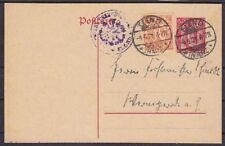 DR DP 4 Ganzsache mit ZUF 20, gel. ab Elend Harz 1921, GA Deutsches Reich
