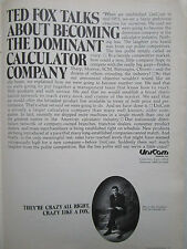 2/1972 PUB UNICOM SYSTEMS CUPERTINO CALCULATOR ORIGINAL AD