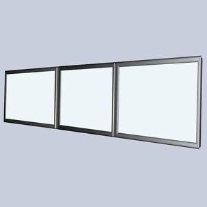 Klapprahmen LED Premium Leuchtkasten mit 3 Fenster - 2500 x 500 mm Wechselrahmen