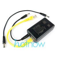 Gigabit 802.3at 24Watt Active PoE Splitter 48V to 12V 2A Power Over Ethernet