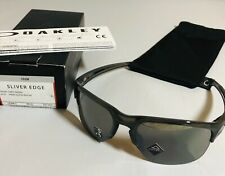 New Oakley Sliver Edge Sunglasses Grey Smoke W/ Prizm Black Iridium Sunglasses