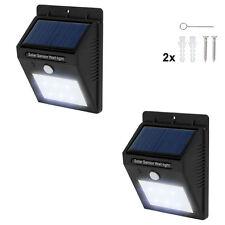 2x Lámpara energía solar exterior 6LED de pared de jardín movimiento pir sensor
