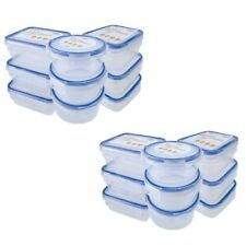 18 X Mini Storage Boxes Plastic Kitchen Container Small Food Sauce Baby