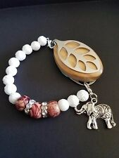 Bellabeat Leaf -Elephant Bracelet White Coral