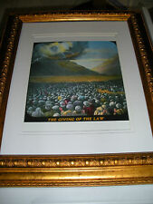 "C.T. Russell Photo-Drama of Creation Photo ""Giving Law at Sinai"" Watchtower IBSA"