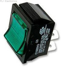 Rocker Switch DPST Illum Green Part # Arcolectric Switches C1553VQNAL