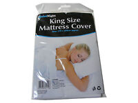 KING SIZE BED WETTING PLASTIC FITTED WATERPROOF MATTRESS COVER SHEET PROTECTOR
