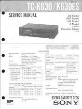Sony original Service Manual para TC-K 630 es