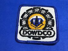 Dowdco Patch Sew On Windmill Power Energy Logo Great Condition Square Yellow