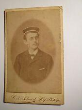Reutlingen - SS 1883 - P. Roesch als Student oder Schüler mit Mütze CDV