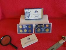 FROM 2000, UNITED STATES MINT 10 COIN PROOF SET, COA & ORIGINAL BOX ............