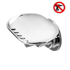 VACUUM Suction Cup Soap Dish Holder Vacuum Stainless Steel soap for Bathroom